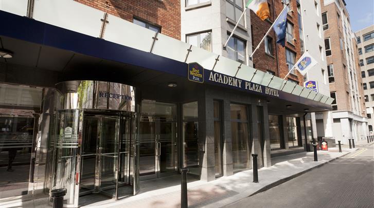 Dublin, Hotel Academy Plaza, Façade hotel