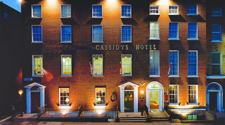 Dublin, Hotel Cassidys, Façade hotel