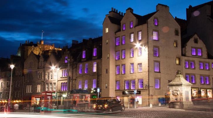 Edinburgh, Hotel Grassmarket, Façade hotel