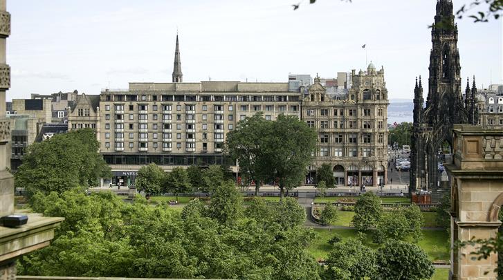 Edinburgh, Hotel Mercure Edinburgh Princes Street, Façade hotel