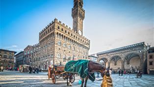 Florence, Florence paard en wagen oud plein