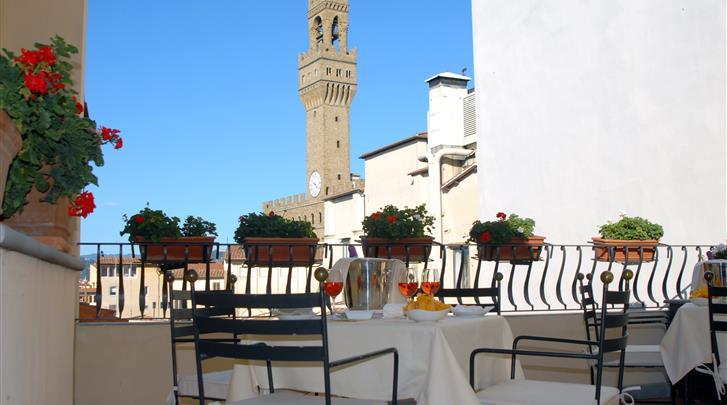 Florence, Hotel Degli Orafi, Terras