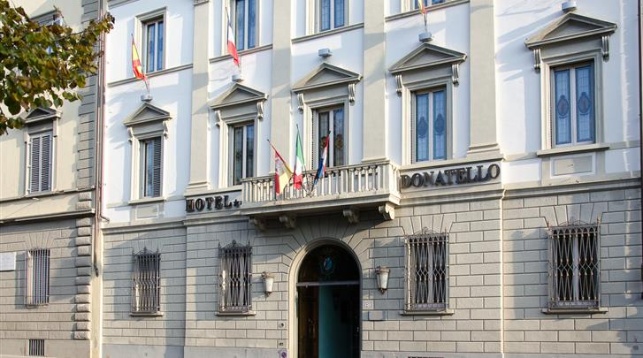 Florence, Hotel Donatello Firenze, Façade hotel