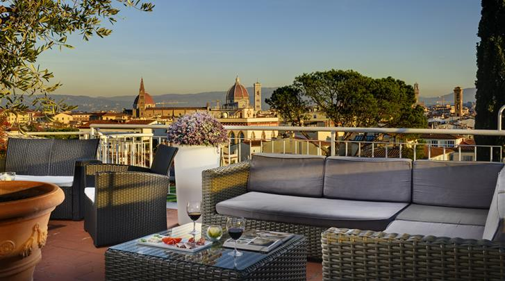 Florence, Hotel Kraft, Terras