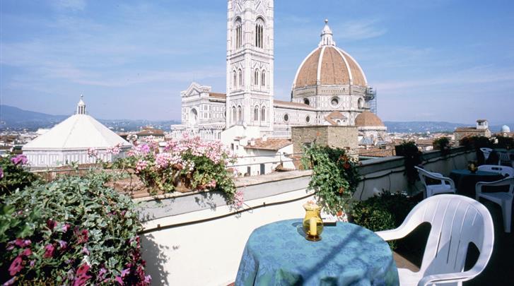 Florence, Hotel Medici, Terras