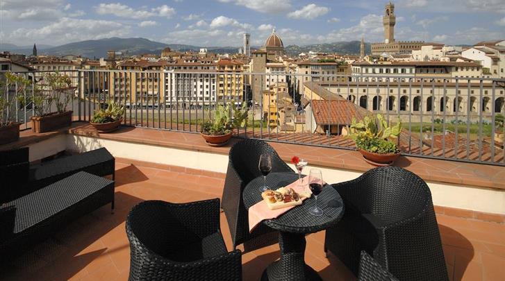 Florence, Hotel Pitti Palace al Ponte Vecchio, Terras