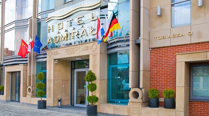 Gdansk, Hotel Admiral, Façade hotel