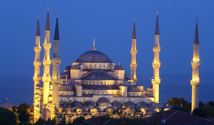 Istanbul, de Blauwe Moskee