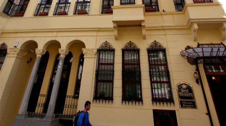 Istanbul, Hotel Amber, Façade hotel
