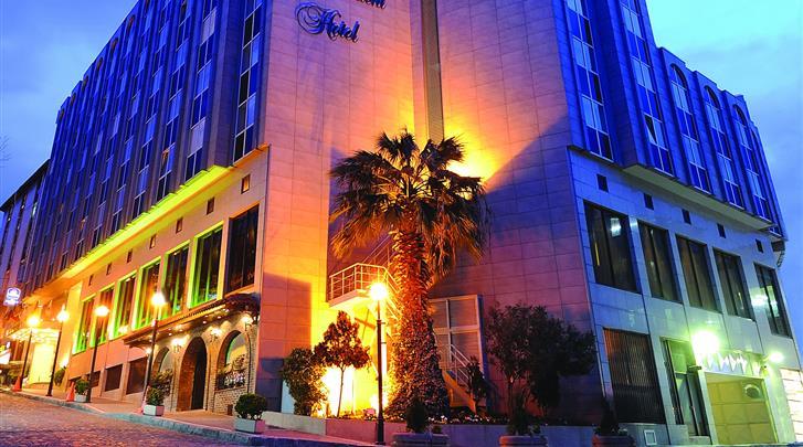 Istanbul, Hotel Best Western The President, Façade hotel