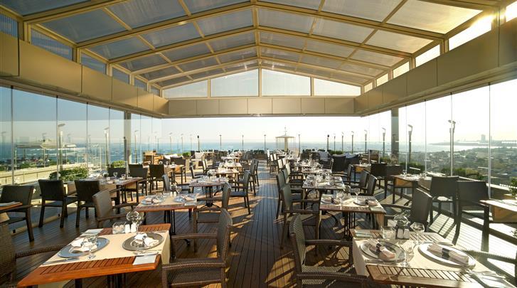 Istanbul, Hotel Best Western The President, Restaurant terras