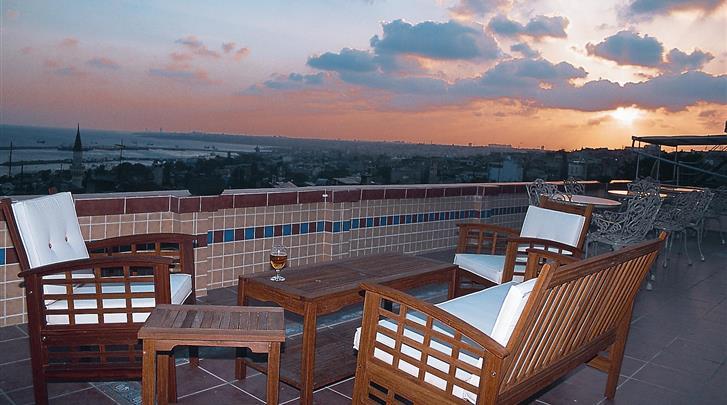 Istanbul, Hotel Fehmi Bey, Dakterras