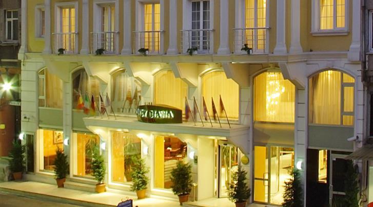 Istanbul, Hotel Lady Diana, Façade hotel