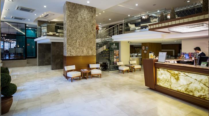 Istanbul, Hotel Orka Royal, Receptie