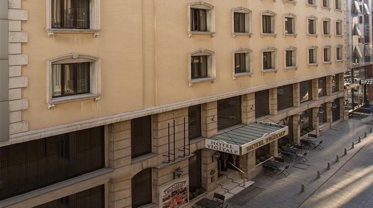 Istanbul, Hotel Yigitalp, Façade hotel
