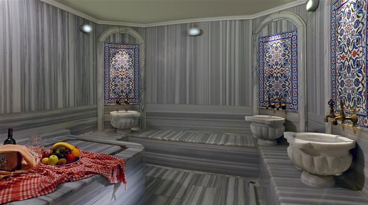 Istanbul, Hotel Yigitalp, Turks bad