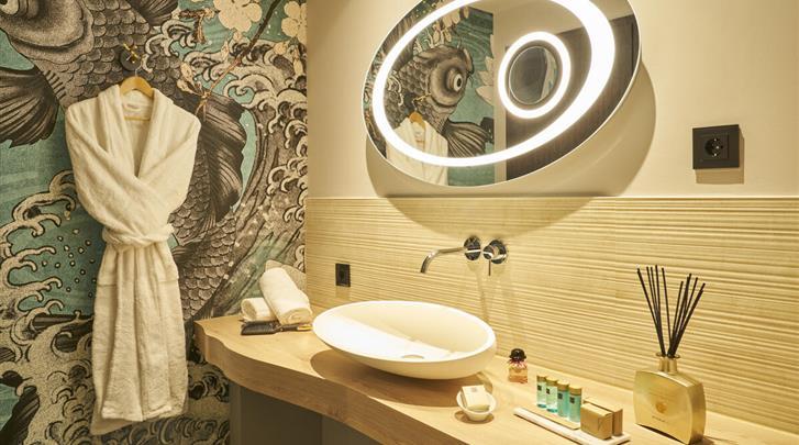 Keulen, Hotel Classic Harmonie, Grand Deluxe kamer - badkamer