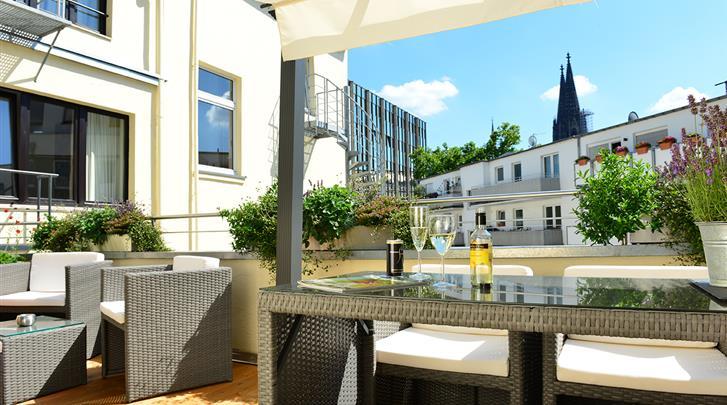 Keulen, Hotel Domspitzen & Domstern, Dakterras (Domspitzen)