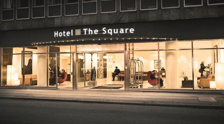 Kopenhagen, Hotel The Square, Façade hotel