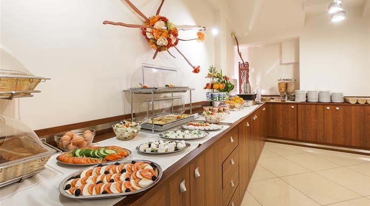 Krakau, Hotel Alexander I, Ontbijtbuffet