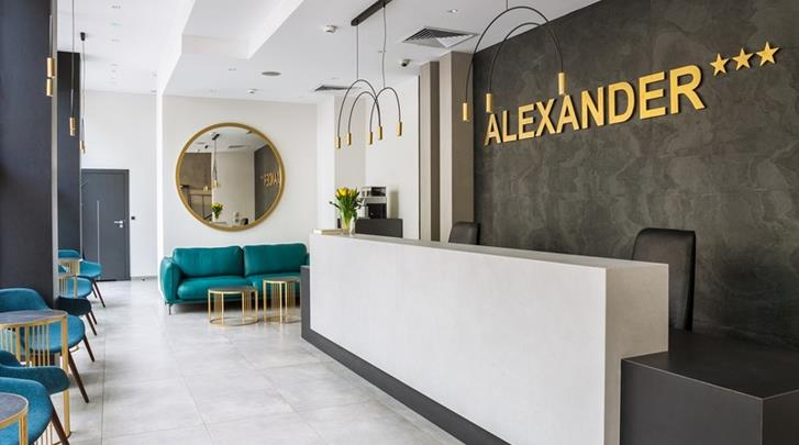 Krakau, Hotel Alexander I, Receptie