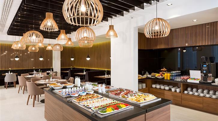 Krakau, Hotel Grand Ascot, Ontbijtbuffet