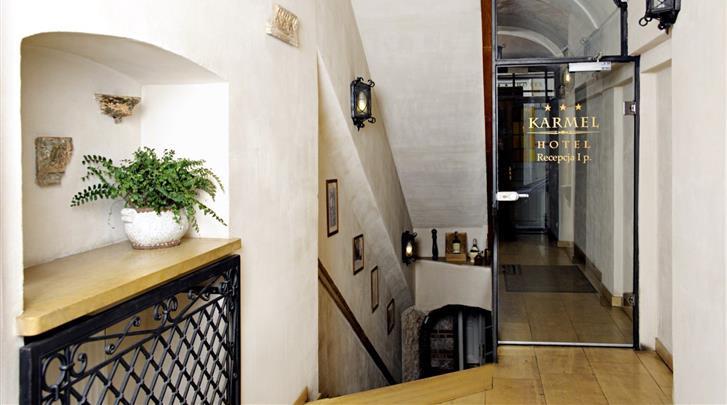 Krakau, Hotel Karmel, Entree