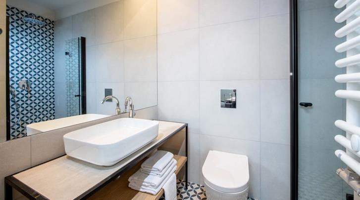 Krakau, Hotel M29, Badkamer
