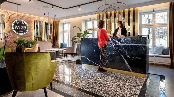 Krakau, Hotel M29, Receptie