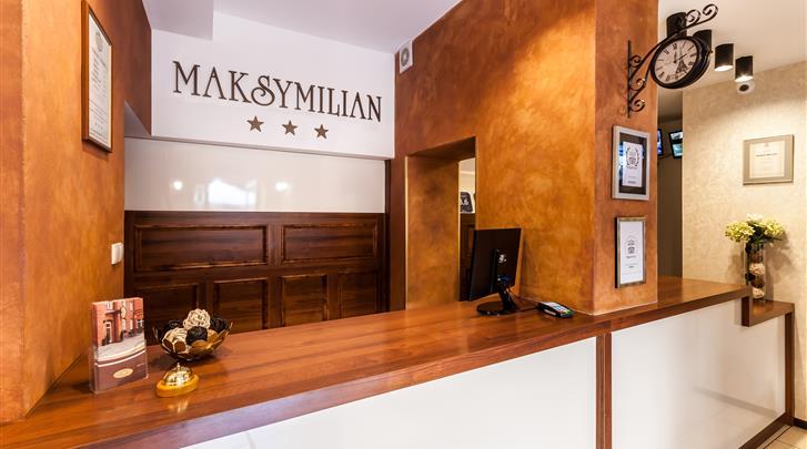 Krakau, Hotel Maksymilian, Receptie