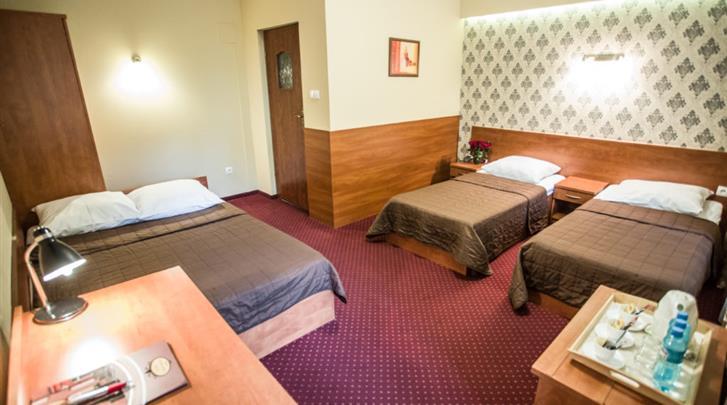 Krakau, Hotel Maksymilian, Vierpersoonskamer voorbeeld