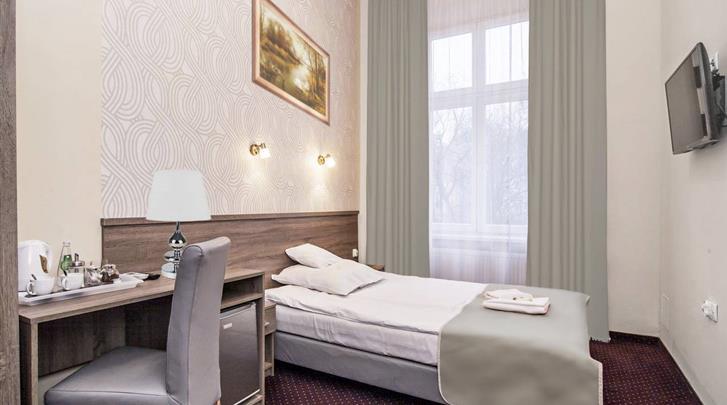 Krakau, Hotel Maximum, Eenpersoonskamer voorbeeld