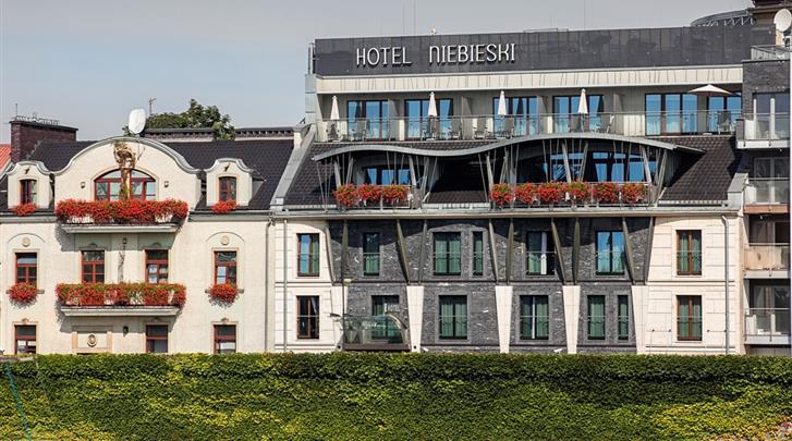 Krakau, Hotel Niebieski Art, Façade hotel