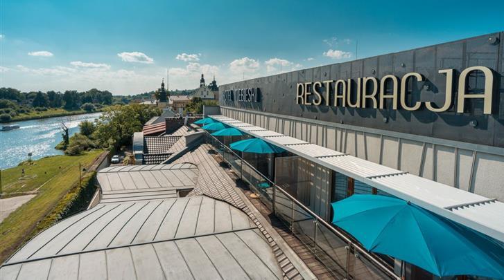 Krakau, Hotel Niebieski Art, Ligging aan de rivier Wisla