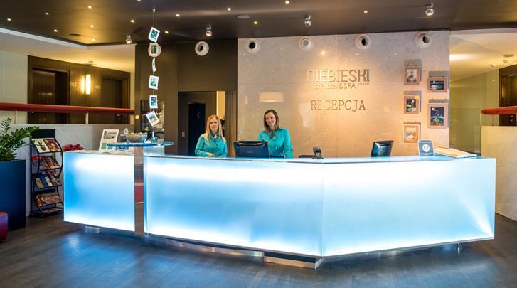 Krakau, Hotel Niebieski Art, Receptie