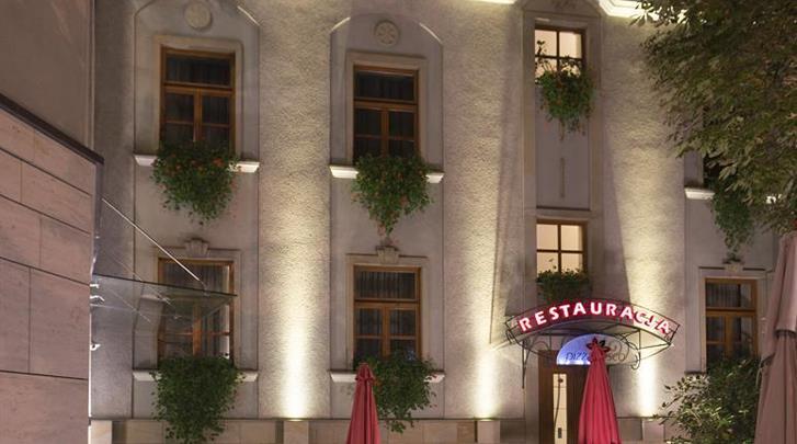 Krakau, Hotel Pension Blue Swan, Façade hotel