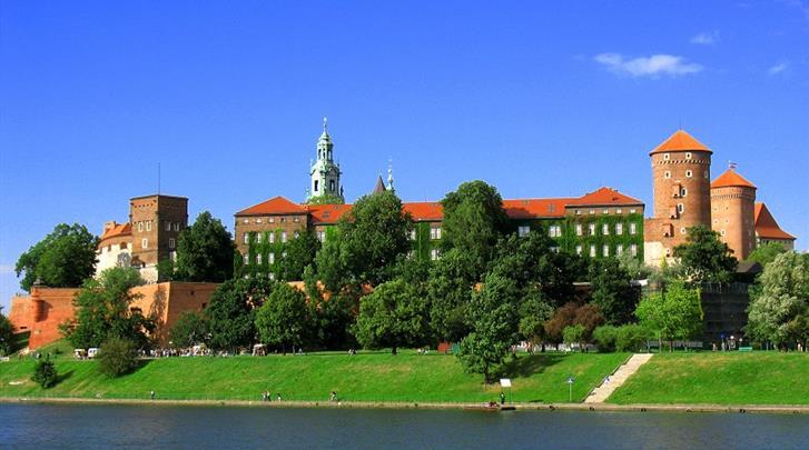 Krakau, Hotel Pension Blue Swan, Kwartiertje lopen naar kasteel Wawel
