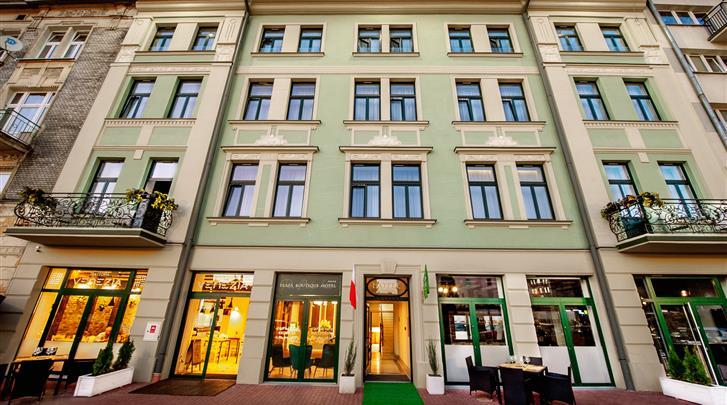 Krakau, Hotel Plaza Boutique, Façade hotel