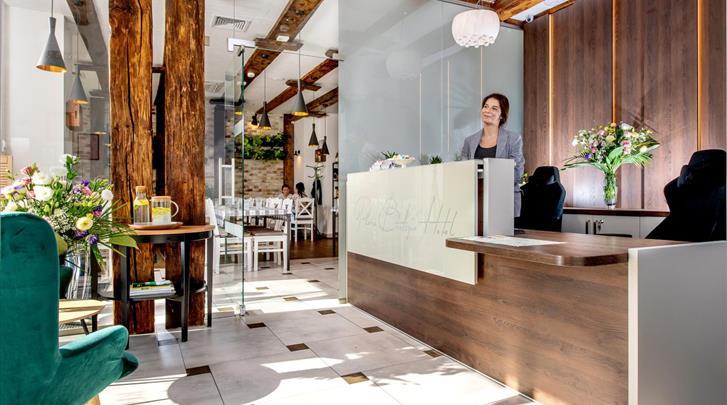 Krakau, Hotel Plaza Boutique, Receptie