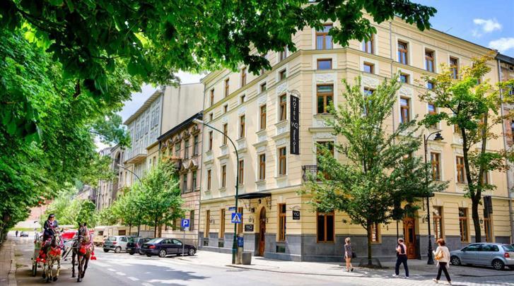 Krakau, Hotel Wawel Queen, Façade hotel