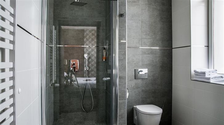 Krakau, Hotel Wilga, Badkamer