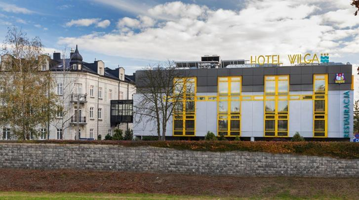 Krakau, Hotel Wilga, Façade hotel