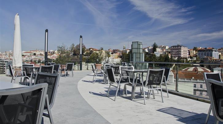 Lissabon, Aparthotel VIP Executive Eden, Dakterras