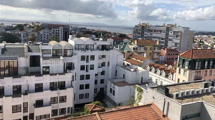 Lissabon, Hotel Amazonia, Uitzicht