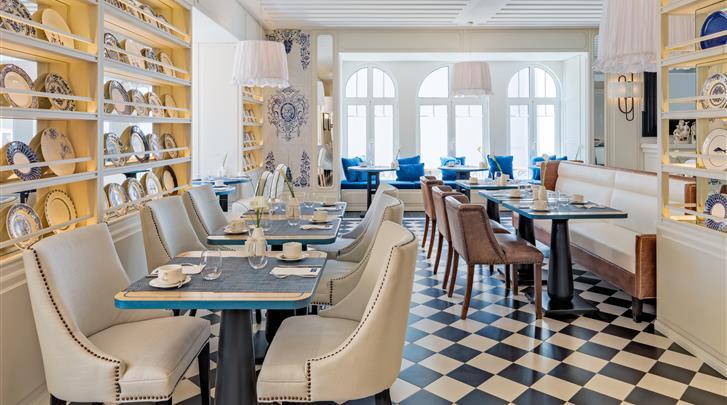Lissabon, Hotel H10 Duque de Loulé, Ontbijtrestaurant