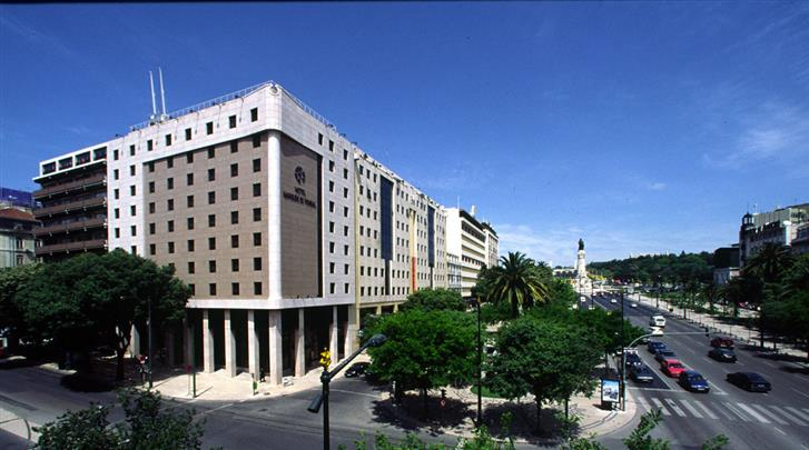 Lissabon, Hotel Marques de Pombal, Façade hotel