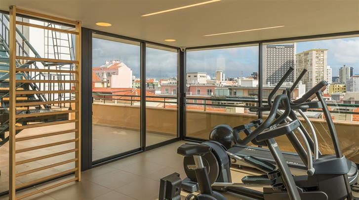 Lissabon, Hotel Miraparque, Fitnessruimte