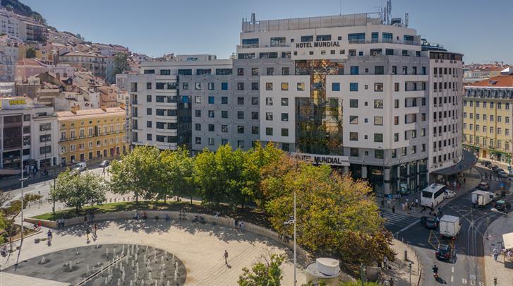 Lissabon, Hotel Mundial, Façade hotel