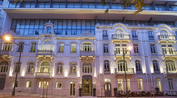 Lissabon, Hotel Porto Bay Liberdade, Façade hotel