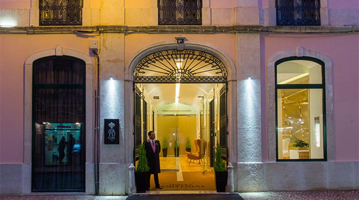 Lissabon, Hotel Portugal, Façade hotel